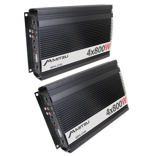 Two 4 ch 800w car audio amplifier power amp stereo for California 2100 amp