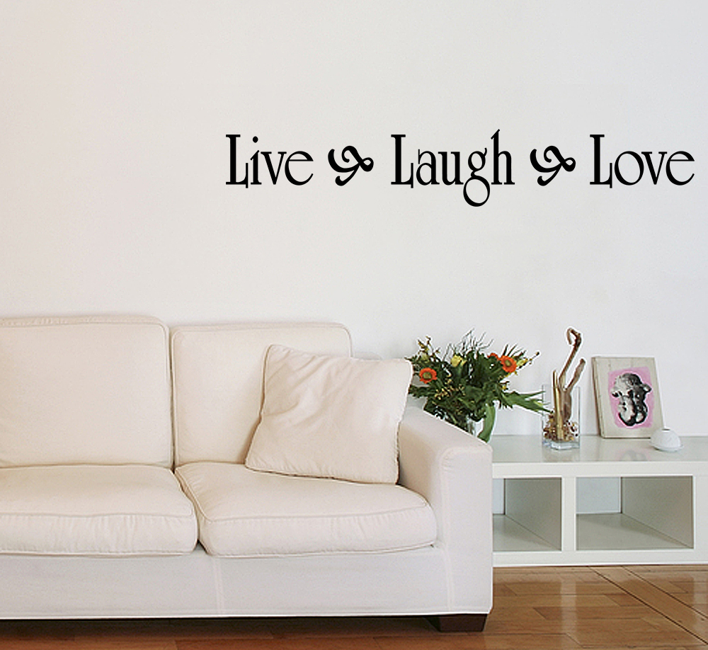live laugh love vinyl wall quote decal family home decor inspirational sticker ebay. Black Bedroom Furniture Sets. Home Design Ideas