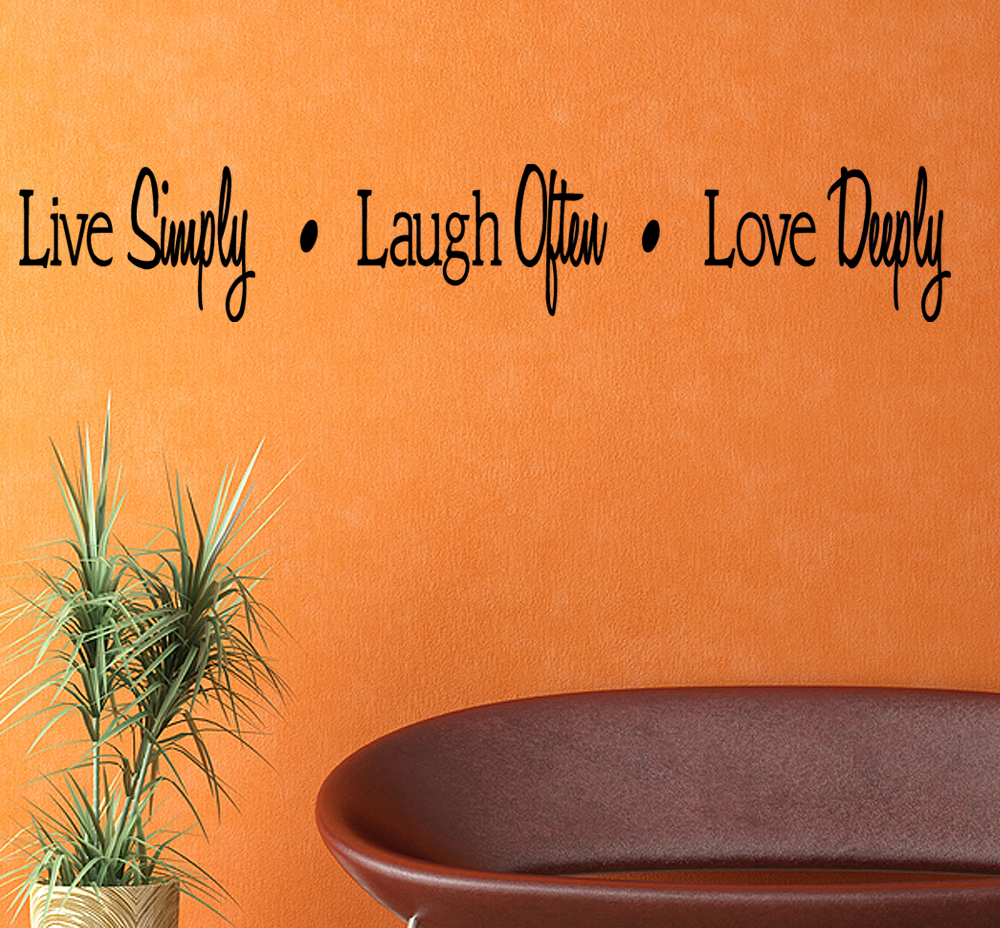 Vinyl Wall Art Love Quotes : Live laugh love vinyl wall quote inspirational decal
