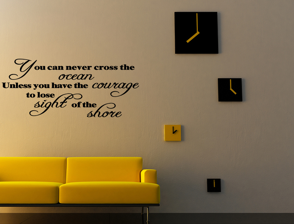 Wall Art Decals Motivational : You can never cross the ocean vinyl wall quote decal