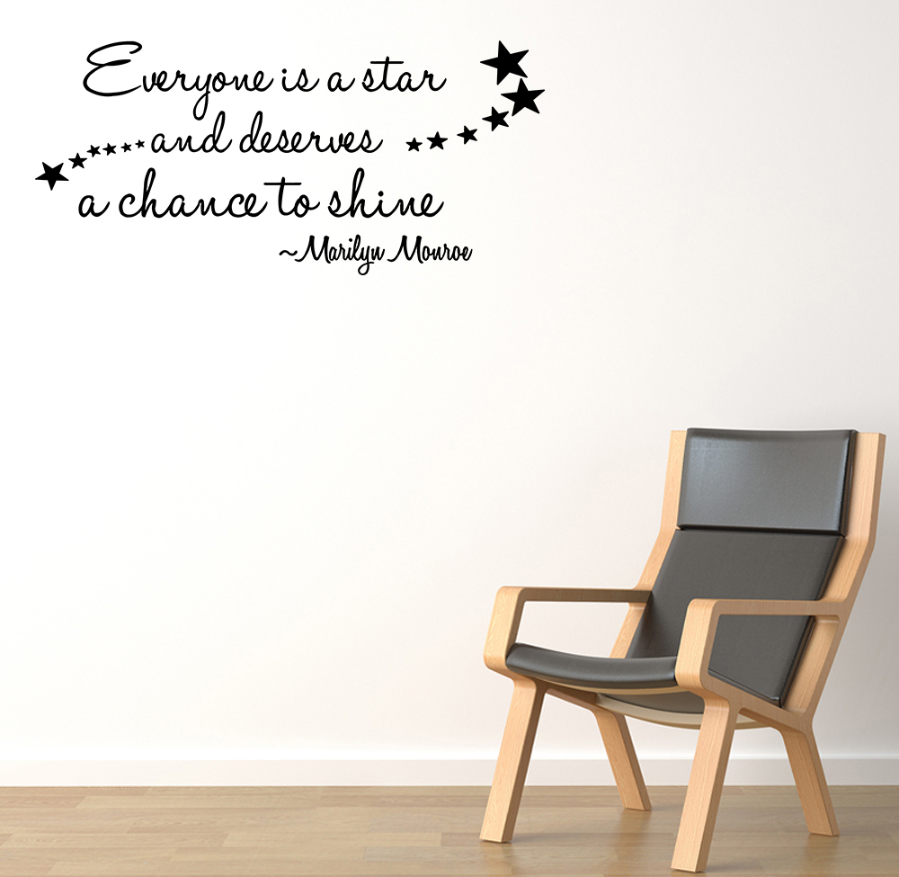EVERYONE IS A STAR Vinyl Wall Quote Decal Home Decor Art