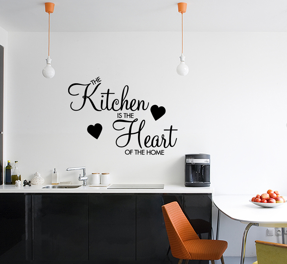Kitchen is the heart of the home wall sticker decal vinyl for Kitchen colors with white cabinets with where can i buy stickers