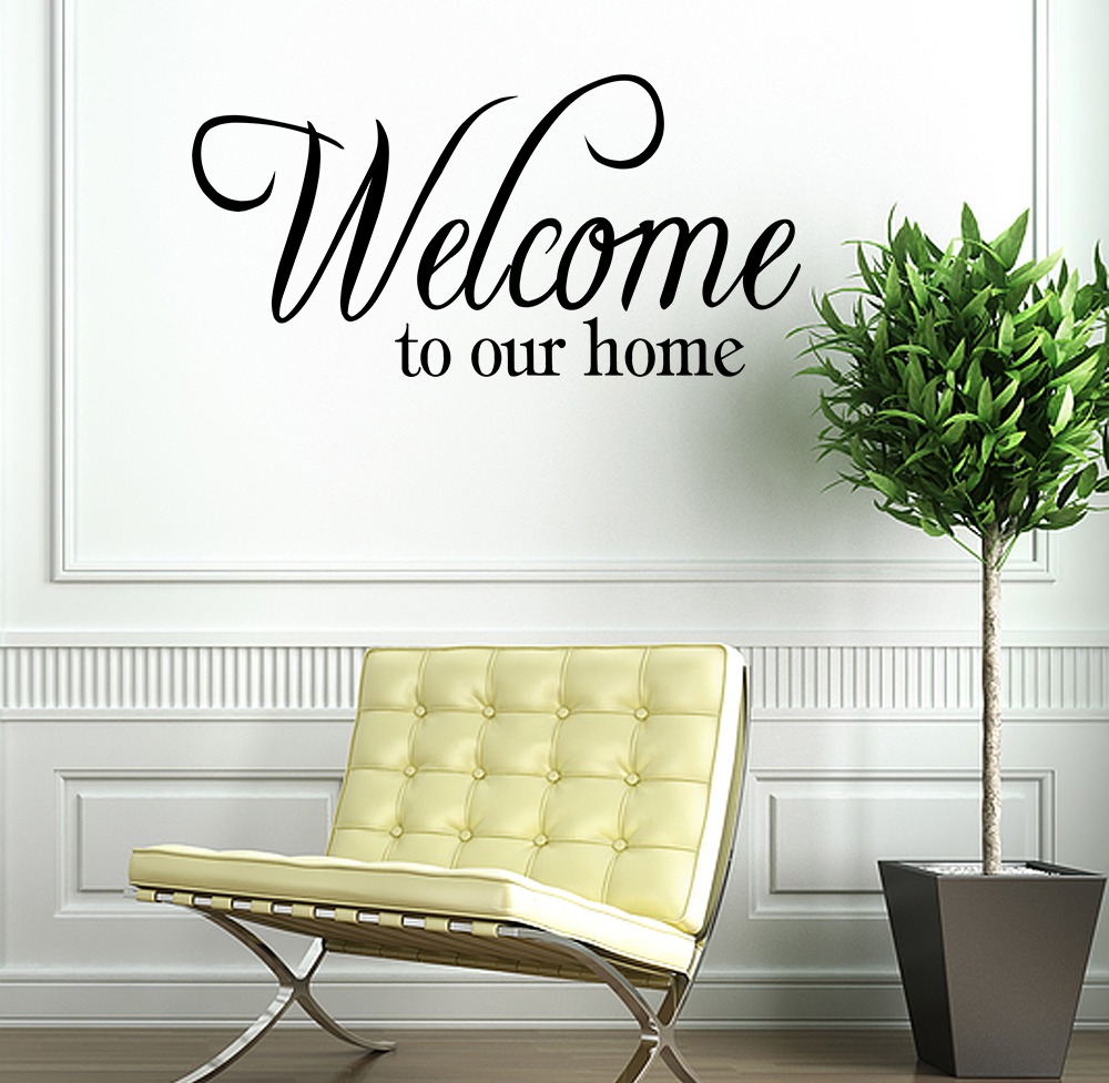 Home Decor Quote: Welcome To Our Home Vinyl Decal Wall Quote Quotes Home