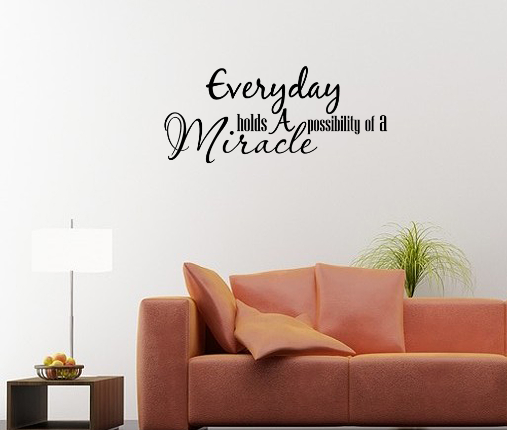 Wall decal art sticker quote vinyl lettering graphic for Christian wall mural
