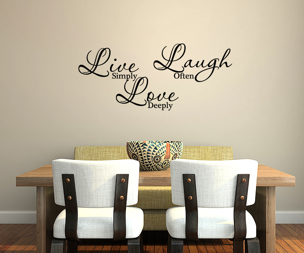 Wall decal art sticker quote vinyl lettering decorative for Live simply wall art