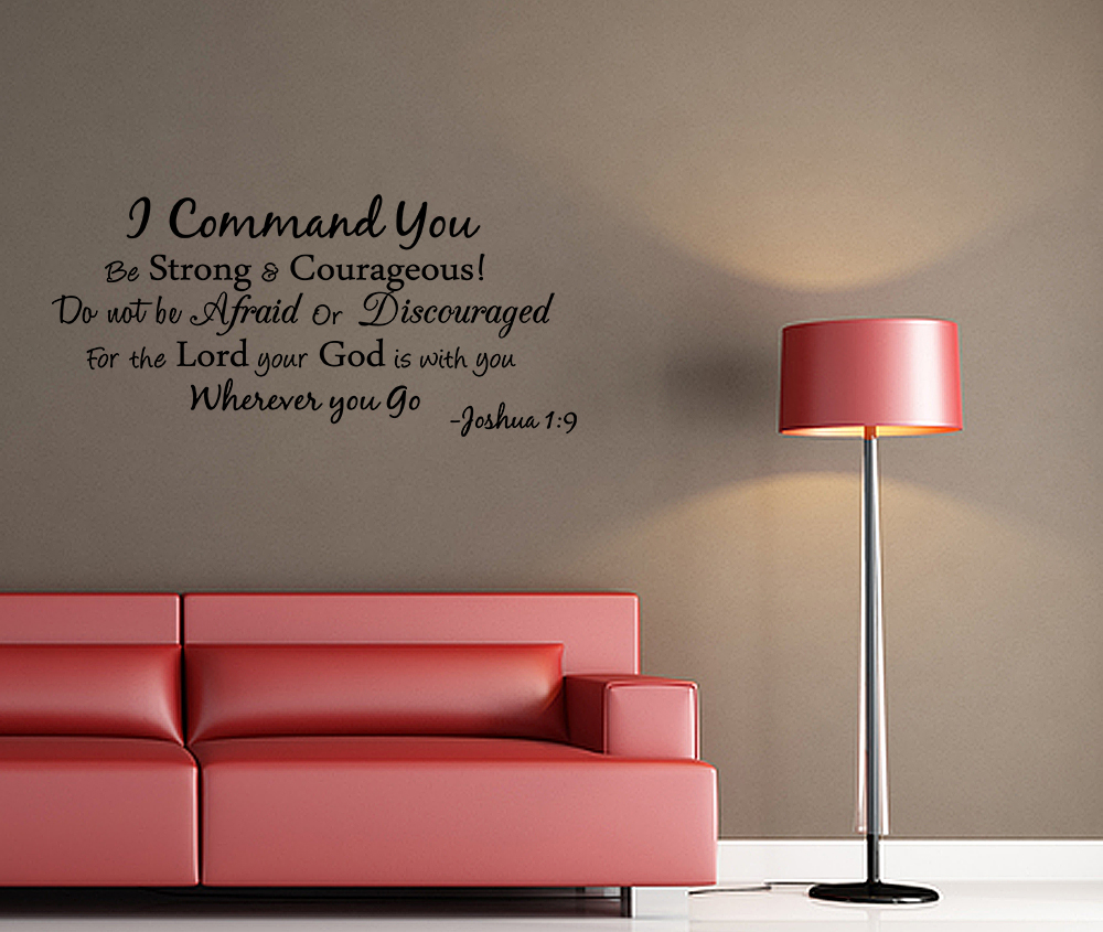 i command you vinyl quote wall decal joshua 1 9 god