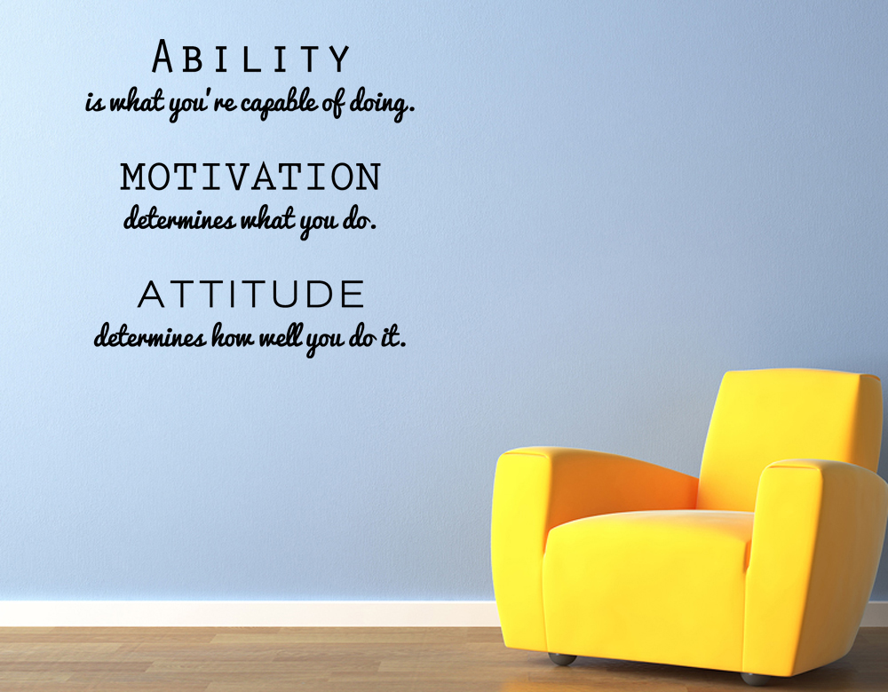 Wall Art Decals Motivational : Vinyl wall art decal sticker inspirational attitude quote