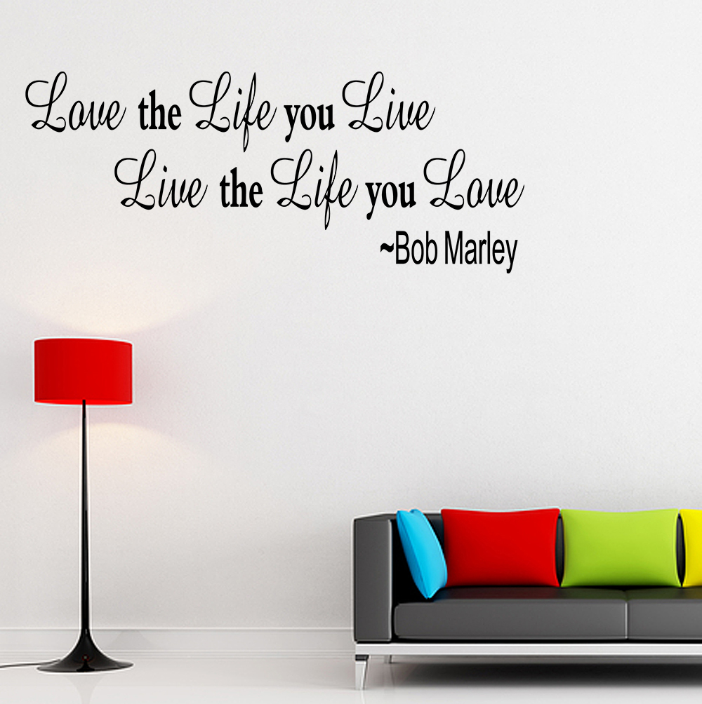Art Decoration Inspirational Bob Marley Wall Quote Home Decor Decal
