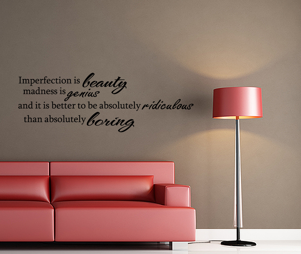 MARILYN MONROE Imperfection Wall Decal Decor Vinyl Quote ...