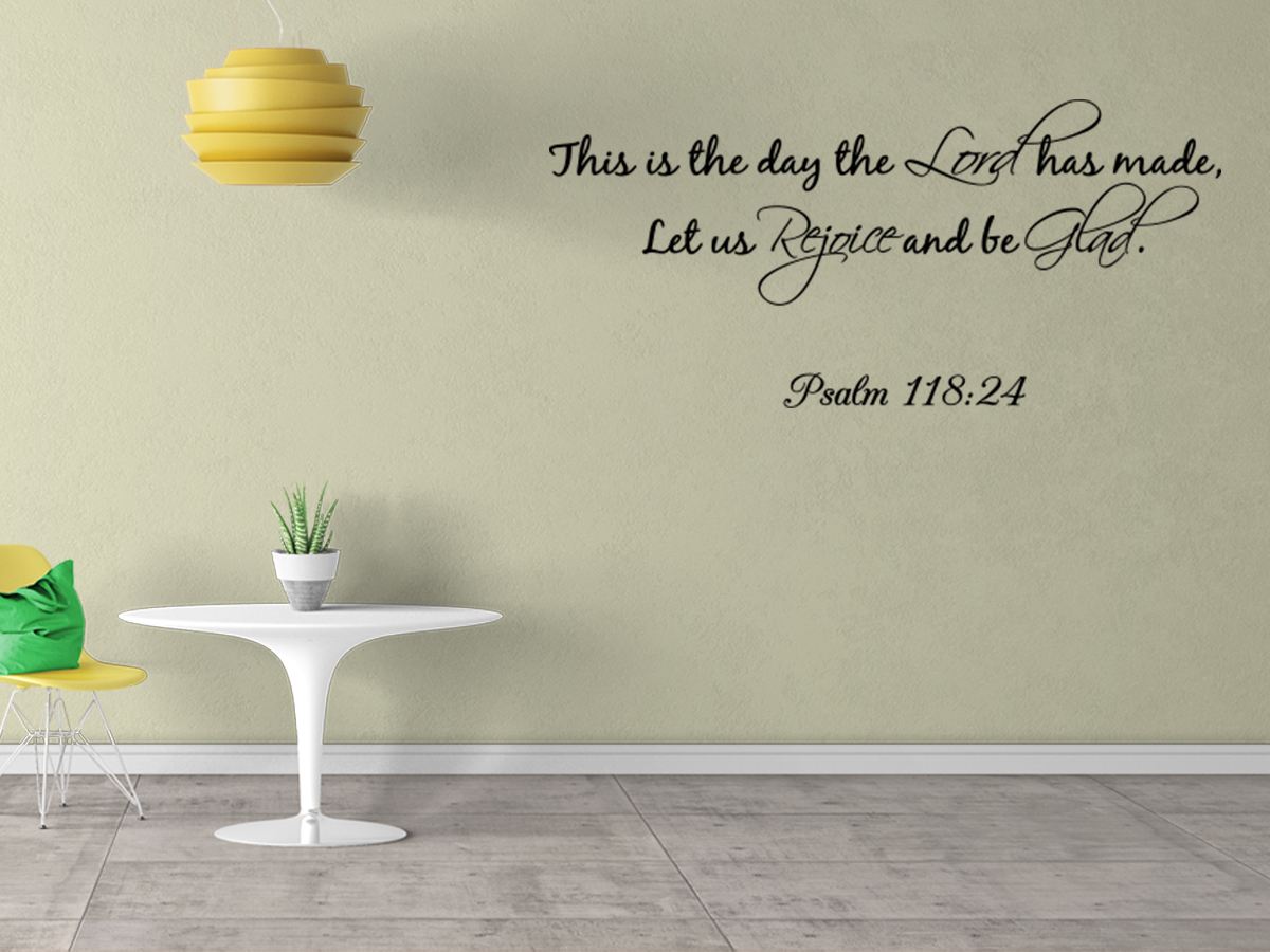Bible Verse Decorative Wall Stickers : This is the day lord has made wall quote decal