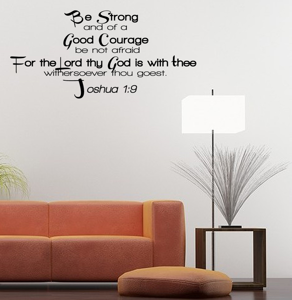 Wall Decals Quotes: BE-STRONG-Vinyl-Wall-Art-Quote-Inspirational-Decal-Sticker
