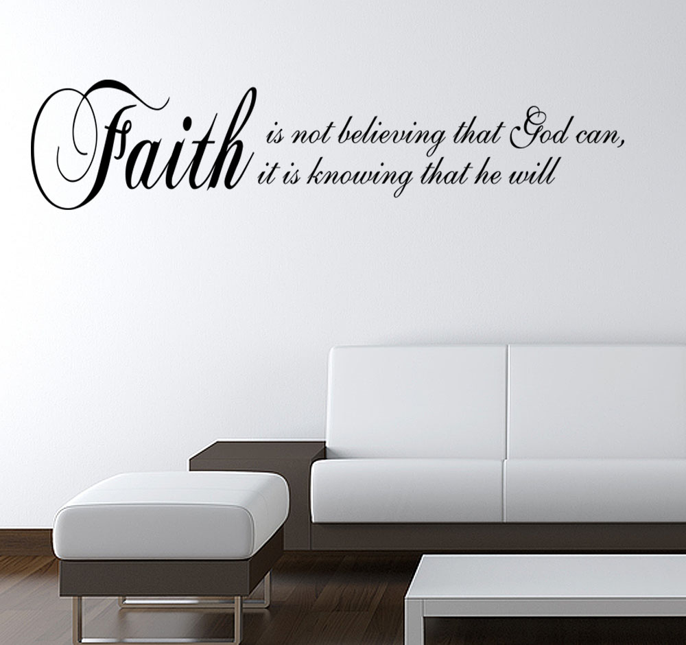 Faith Believing God Wall Decal Decor Vinyl Wall Quote Home Decorators Catalog Best Ideas of Home Decor and Design [homedecoratorscatalog.us]