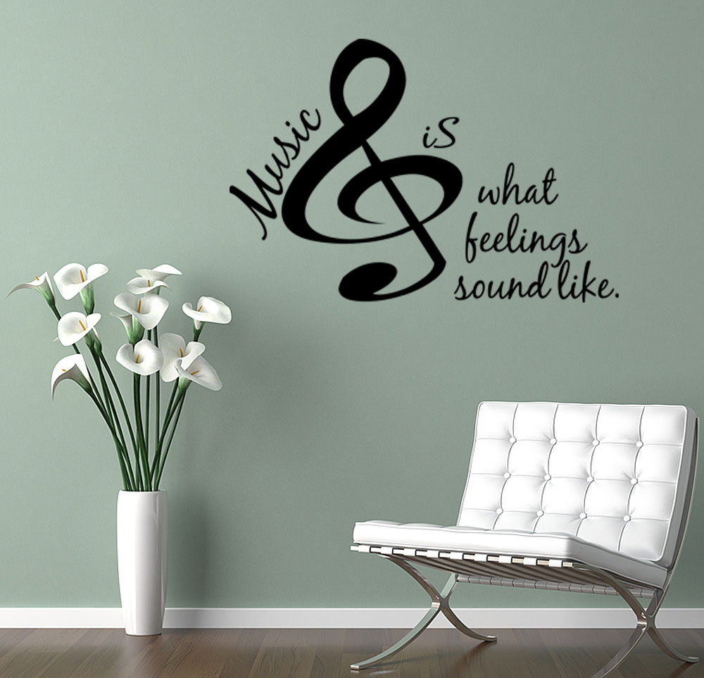 From Seword Wall Art Vinyl Lettering Home Decor ~ Music is vinyl wall lettering decals quote