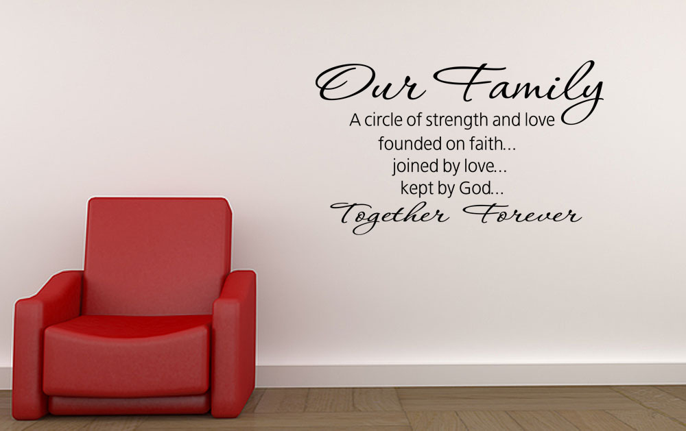 Wall Decal Our Family Circle Together Forever Vinyl Wall