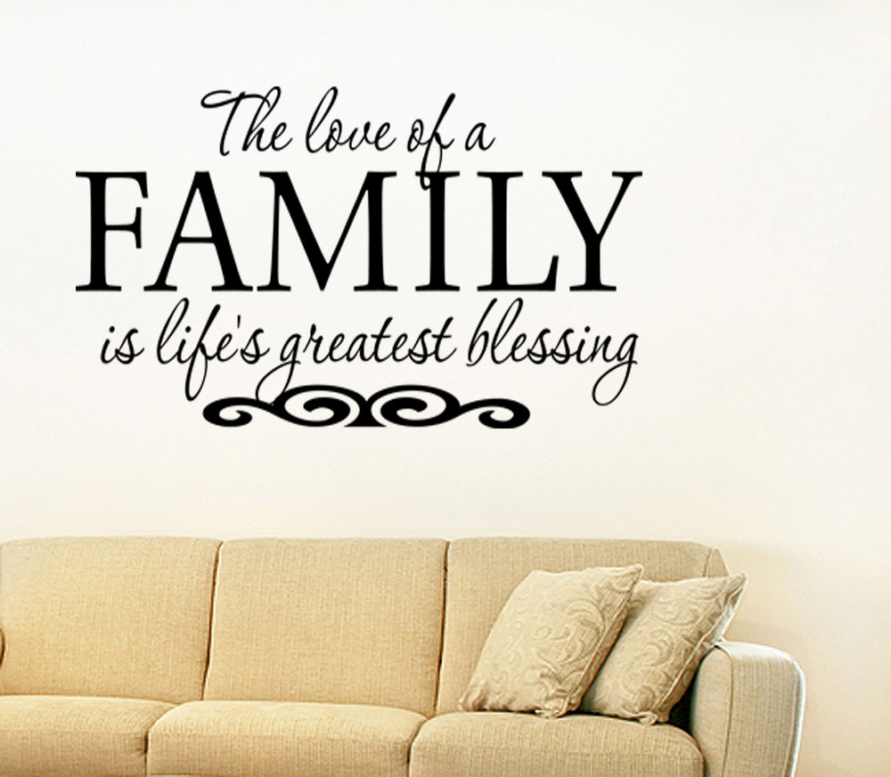 Vinyl Wall Art Quotes Family : Love of a family is life s greates vinyl wall quote decal