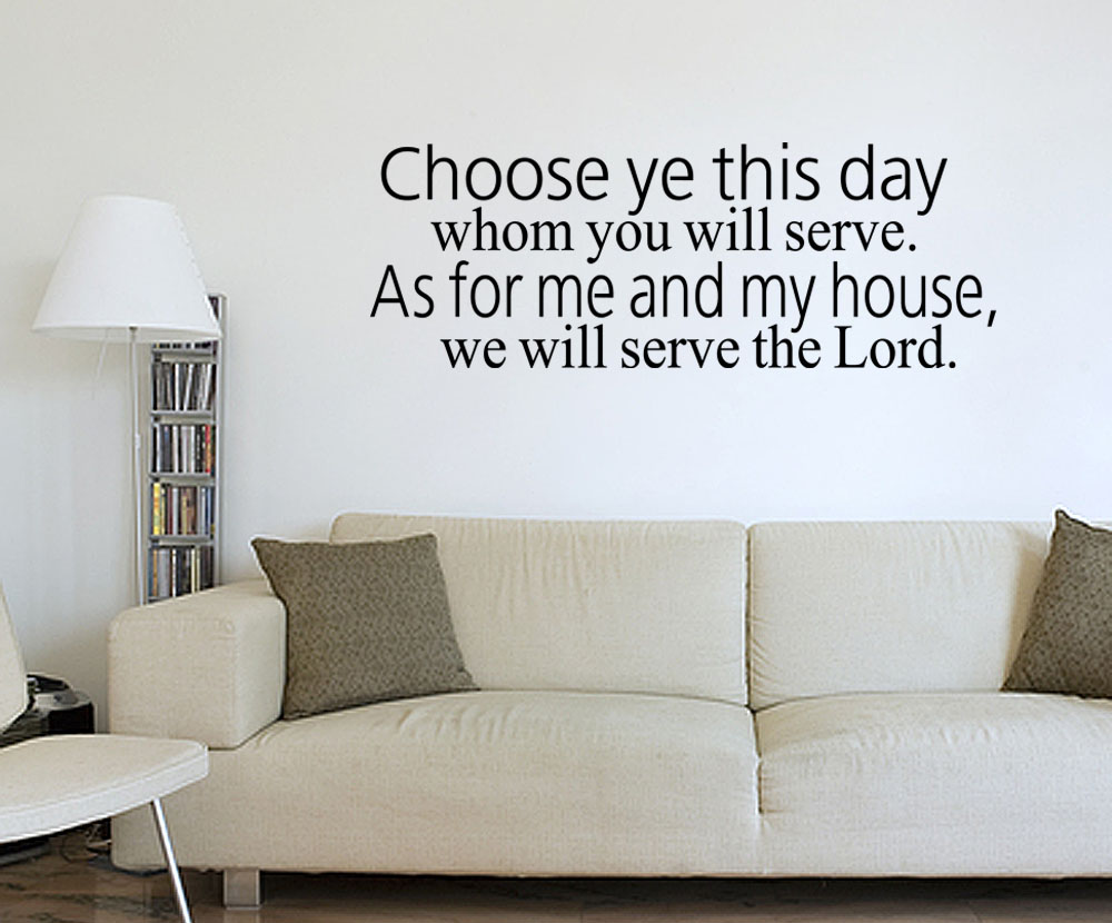 Wall Art Stickers Bible Verses : Joshua bible verse vinyl wall quote decal home decor