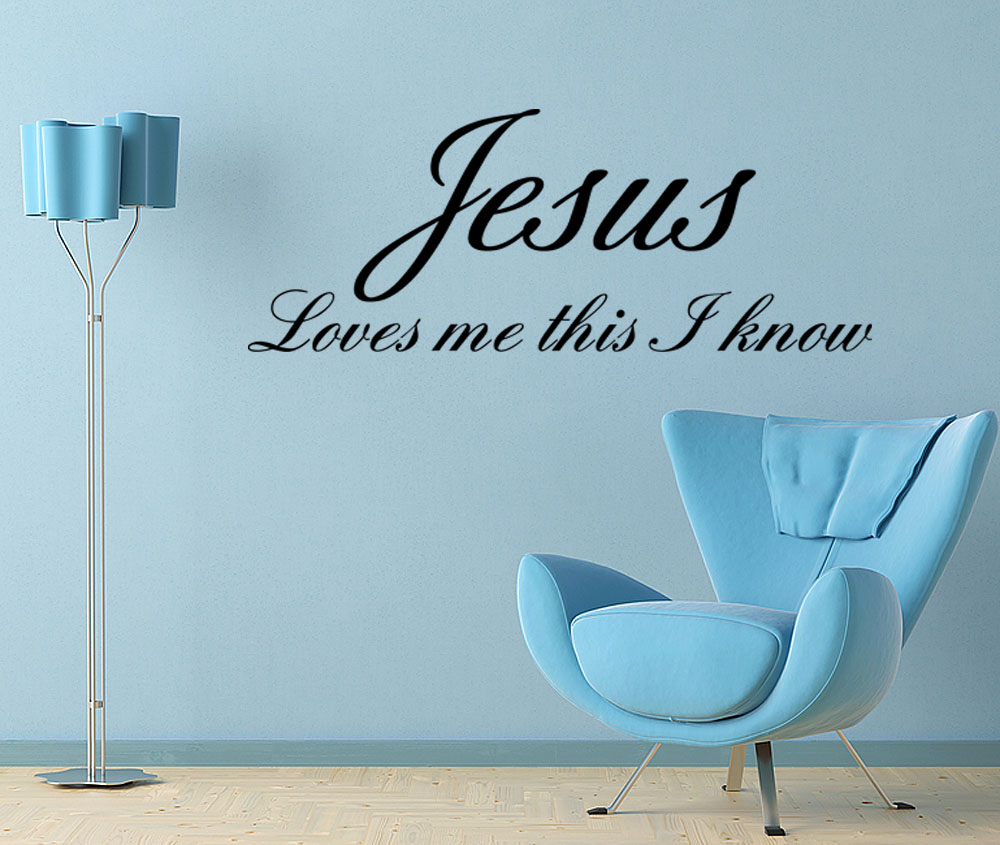 Wall Decor Jesus : Jesus loves me baby room nursery vinyl wall quote decal