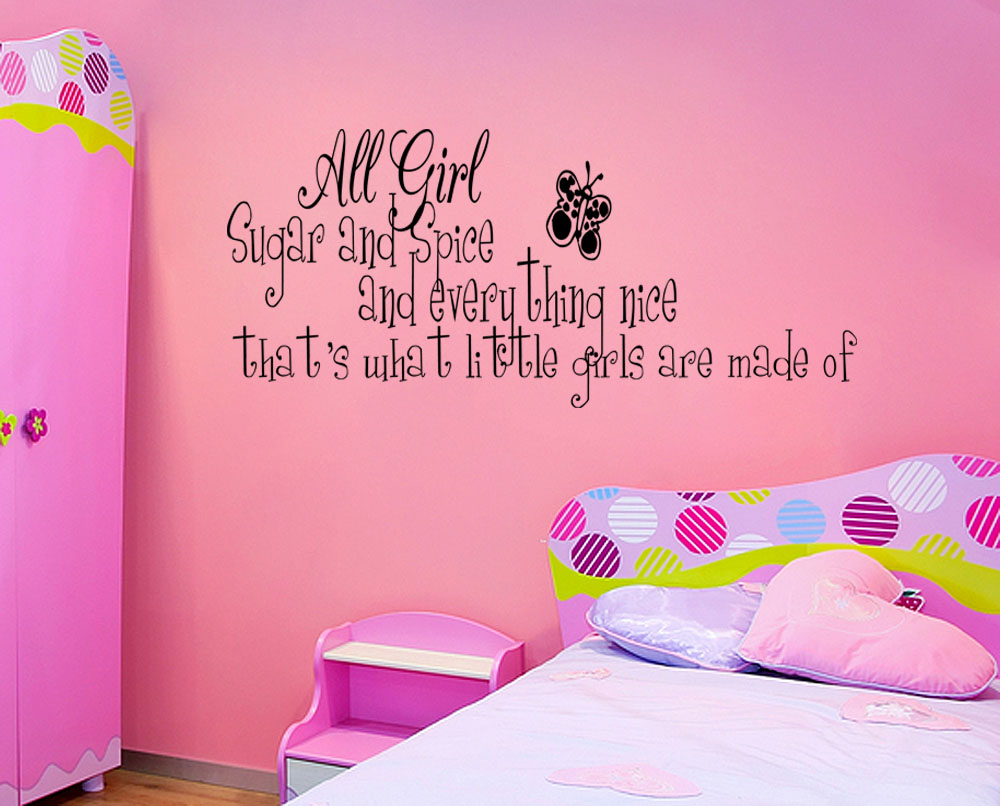 spice little girls room vinyl wall quote decal home decor wall sticker