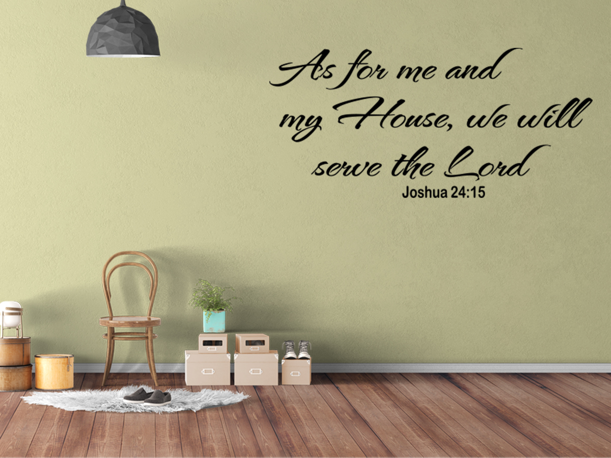 As for me vinyl wall art quote inspirational decal sticker for Christian wall mural