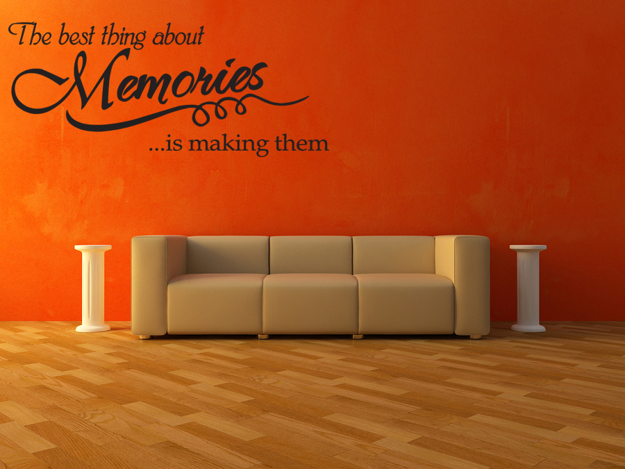 Memories Wall Quote Wall Decal Vinyl Art Sticker Home