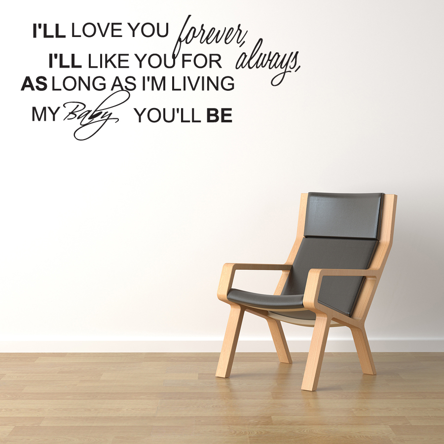 ll Love You Forever Vinyl Wall Decal Lettering Quote Sticker Baby