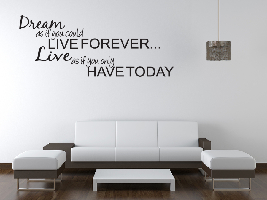 Dream live girls teen bedroom vinyl wall quote art decal sticker room