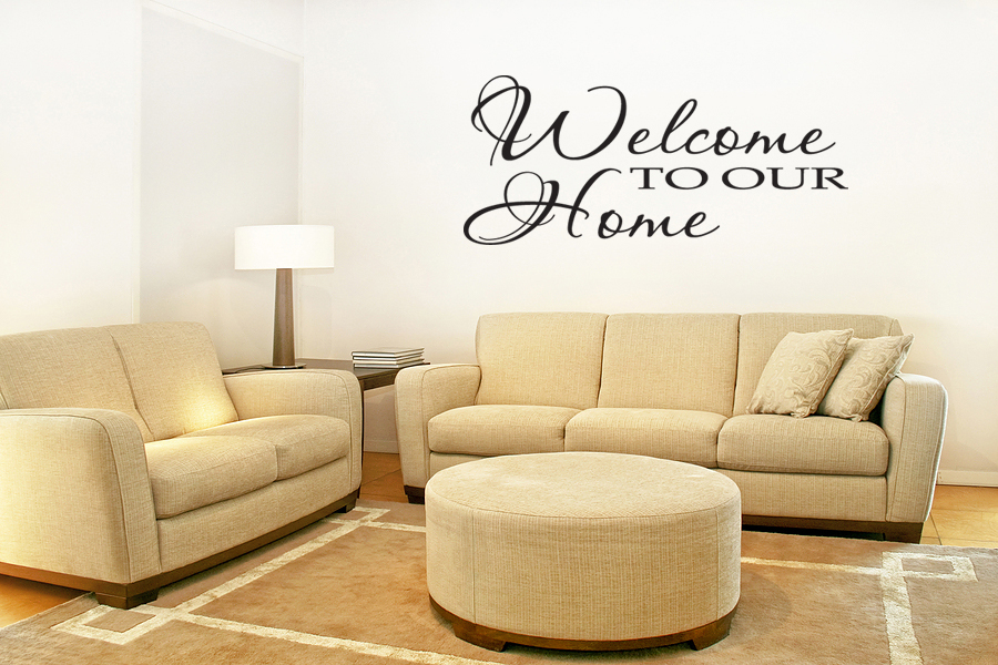 Welcome To Our Home Vinyl Wall Art Decal Home Decor 28 Ebay