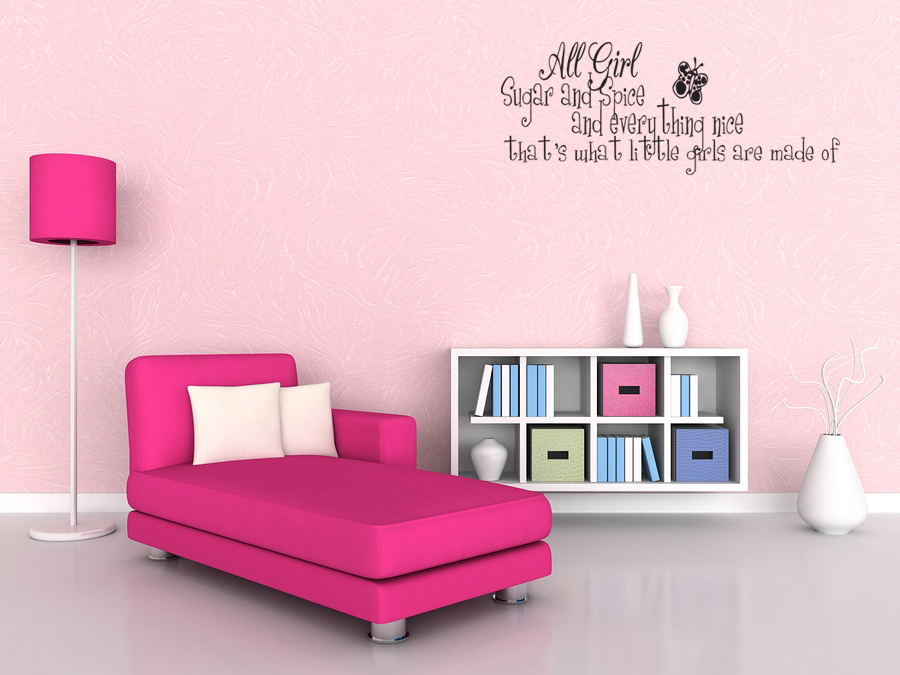 Details About SUGAR AND SPICE LITTLE GIRLS Bedroom Wall Art Decal V68