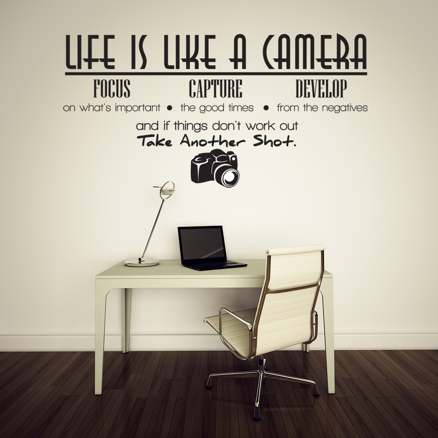 Life is like a camera Vinyl Wall Lettering Quotes Sayings