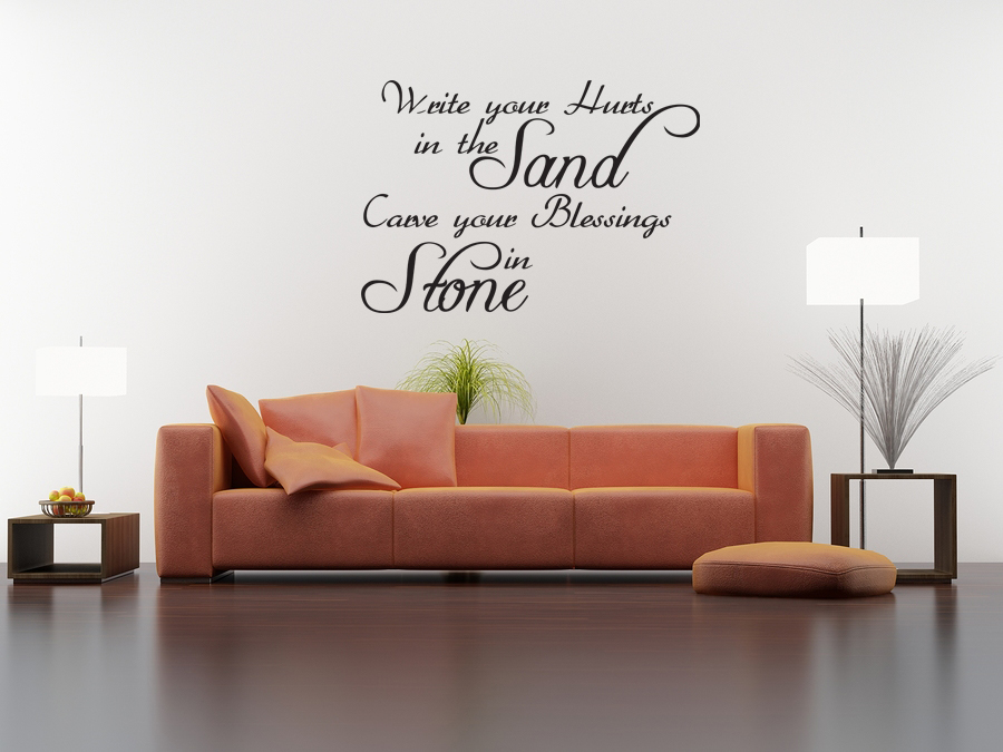 Wall Quote Decal Vinyl Sticker Write Your Hurts In The